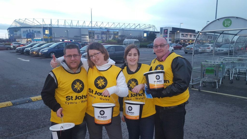The Sully Fundraising Team Visit Cardiff City FC to help St John Cymru Wales